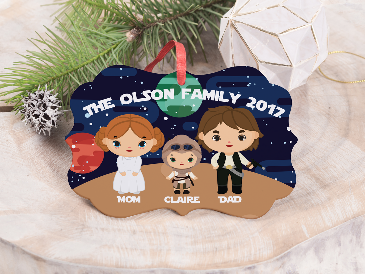 "Ornament - ""Star Wars Family"""