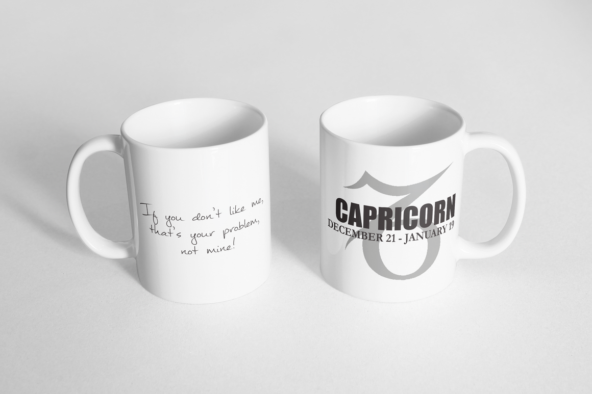 "Mug - ""Horoscope: Capricorn"""