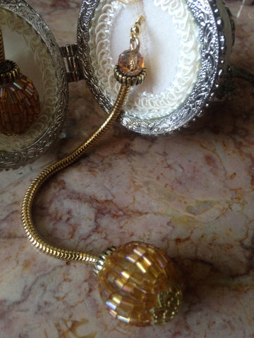 earrings snake rope gold style balls