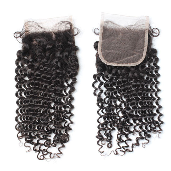 Luxury 10A Mink Kinky Curly Lace Closure