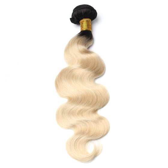 Luxury 10A 1B 613 Blonde Ombre Body Wave Hair 1 Bundle