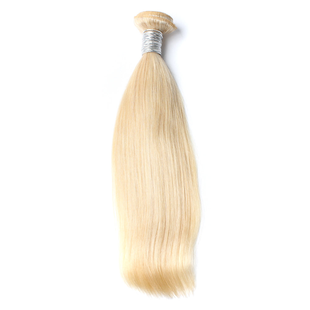 Luxury 10A 613 Blonde Straight Hair 1 Bundle