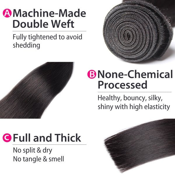Luxury 10A Mink Straight Hair 3 Bundles Details