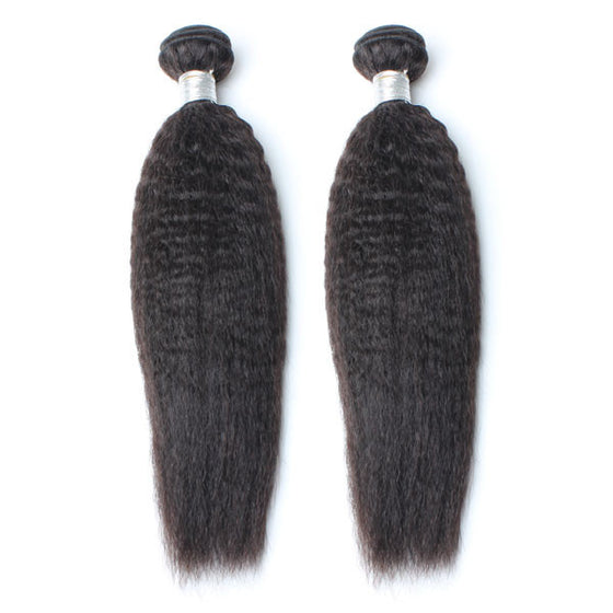 Luxury 10A Mink Kinky Straight Hair 2 Bundles