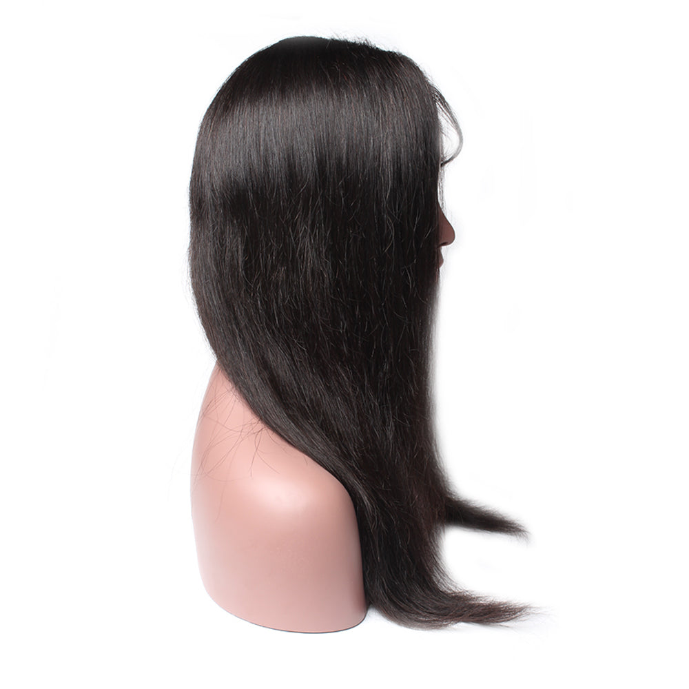 Luxury 130% Density Straight Human Hair Full Lace Wigs Left