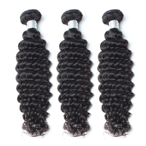 Luxury 10A Mink Deep Wave Hair 3 Bundles