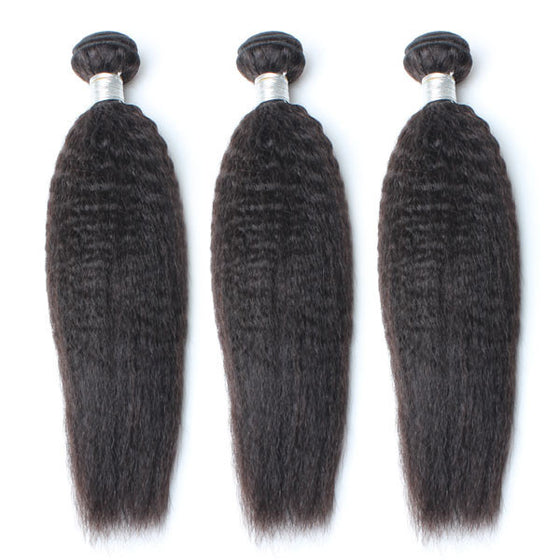 Luxury 10A Mink Kinky Straight Hair 3 Bundles
