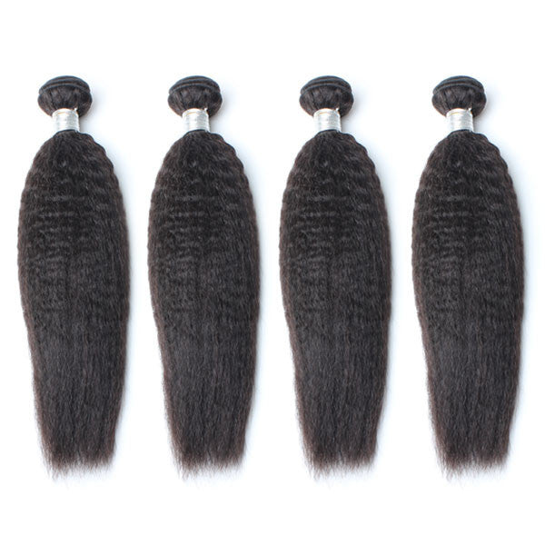 Luxury 10A Mink Kinky Straight Hair 4 Bundles
