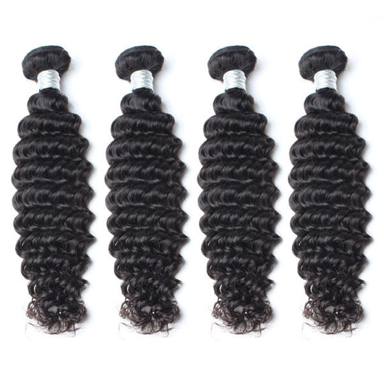 Luxury 10A Mink Deep Wave Hair 4 Bundles