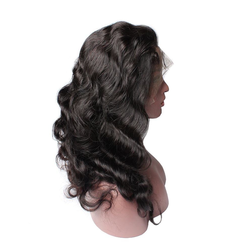 Luxury 130% Density Body Wave Human Hair 360 Lace Frontal Wigs Left