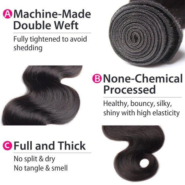Luxury 10A Mink Body Wave Hair 3 Bundles Details