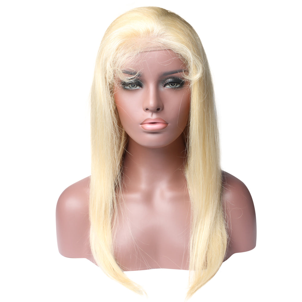 Luxury 150% Density 613 Blonde Straight Human Hair Lace Front Wigs