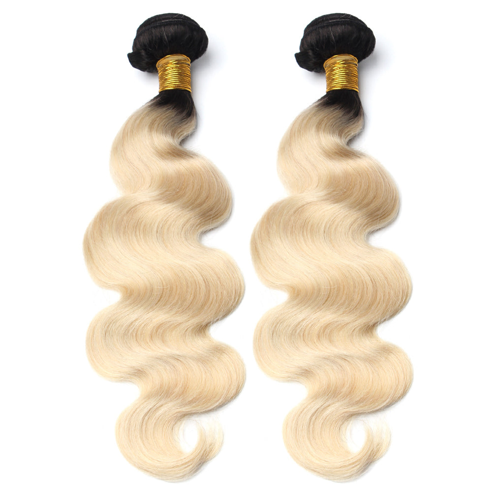 Luxury 10A 1B 613 Blonde Ombre Body Wave Hair 2 Bundles