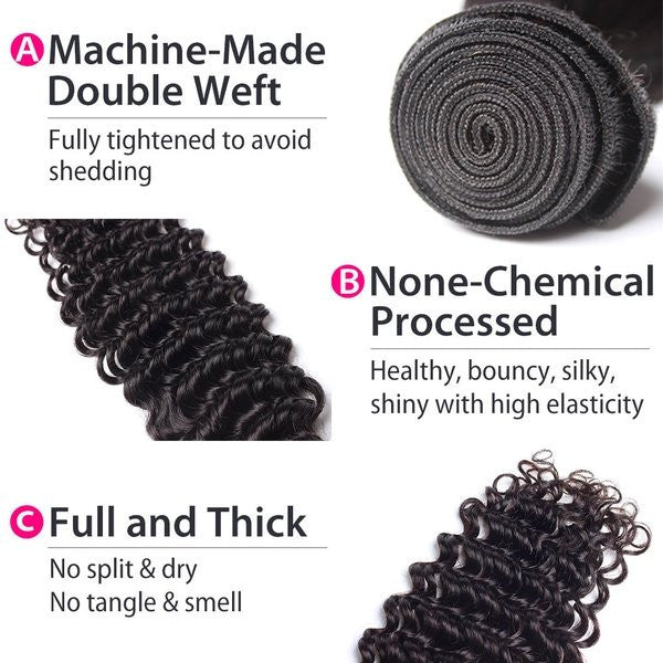 Luxury 10A Mink Deep Wave Hair 3 Bundles Details