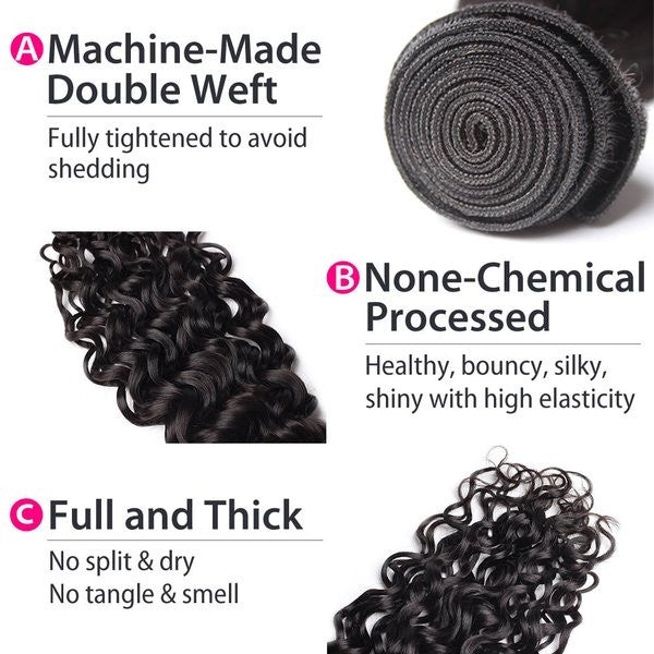 Luxury 10A Mink Natural Wave Hair 3 Bundles Details