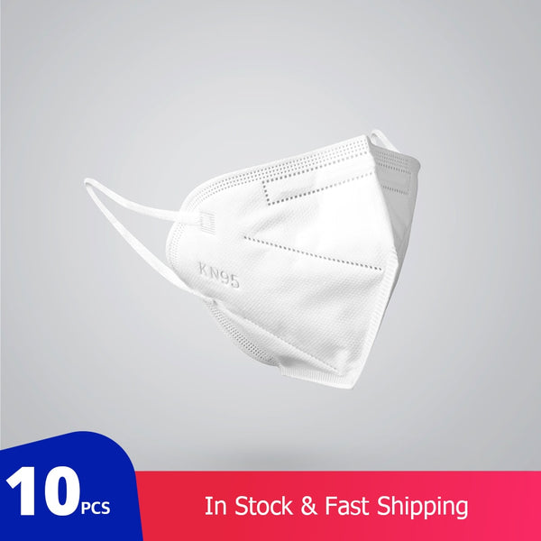 10 pcs KN95 Breathable Face Masks 3-Layer Mouth Muffle Cover (not for medical use)