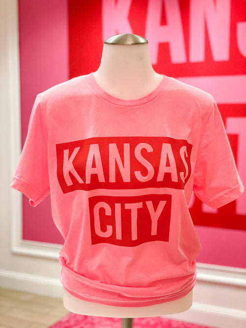 Pink and Red Kansas City Tee