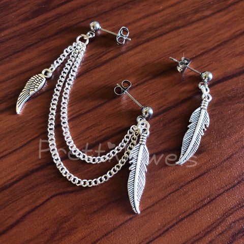 Feathers Wing Cartilage Double Piercing Set