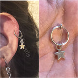 Cute Star Clip On Hoop Cartilage Earring Single