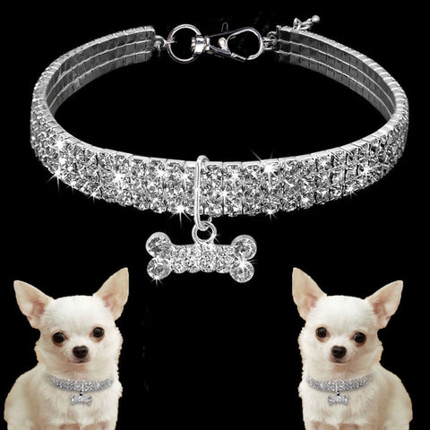 Crystal Rhinestone Pet Bling Collar