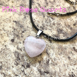 Heart Rose Quartz Gemstone Necklace