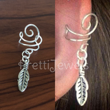 No Piercing Leaf Ear Cuff Single
