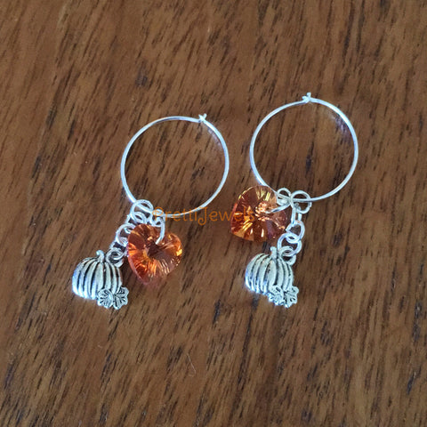 Pumpkin Sterling Earrings