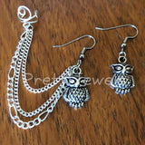 Simply Owls Ear Cuff Earrings