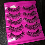 Long Natural Look False Eyelashes