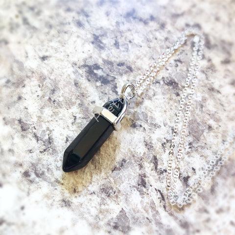 Black Onyx Gemstone Necklace
