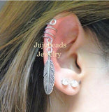 Single Feather Ear Cuff