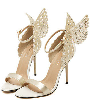 Knot Stiletto Butterfly Bowtie ladies celebrity shoes High Heel Sandals Pumps