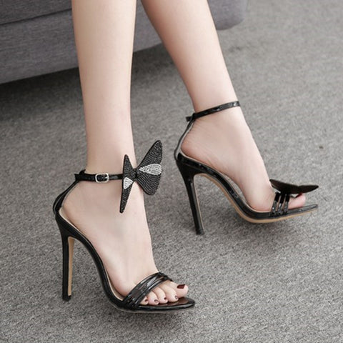 b7e70b3a6b74 azmodo Women s sandals stilettos high heels diamond summer thin heel  bowknot womens shoes party dress woman