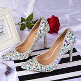 azmodo  Luxurious Rhinestone Stiletto Heel Wedding Shoes