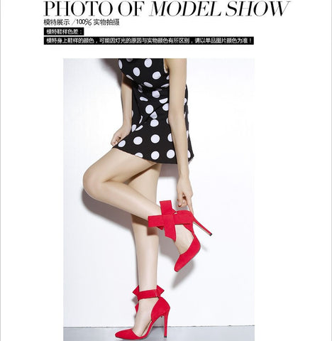 b1821143a981 Glaring Red Pointed Toe High Heel Bow Sandals – AZMODO.COM