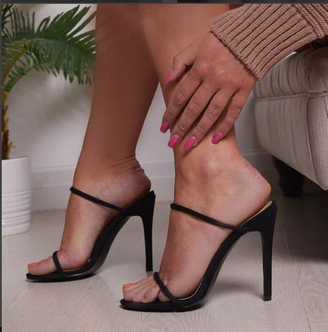 5da763e0d99bc exy High Heels Boots Stiletto Sandalias Mujer Pump Black Shoes Woman Open Toe  Strappy Gladiator Sandals