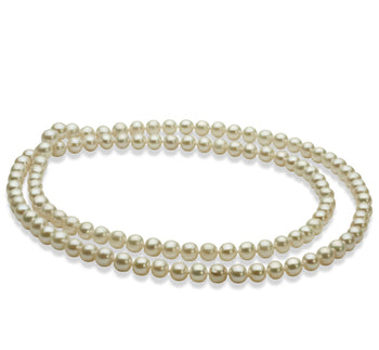 3cc88a11bcad5 6-7mm AA Quality Freshwater Cultured Pearl Necklace in 30 inches White