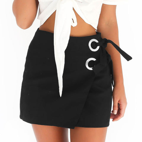 Hot strap stitching hip skirt skirt