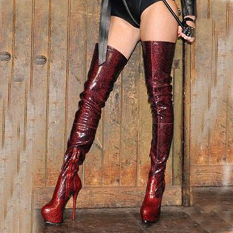 azmodo  Fashionable Zipper Over Knee High Boots