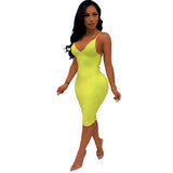 azmodo Women's Slip Stretchy Dress Summer Bodycon Pink Green Dresses HL100