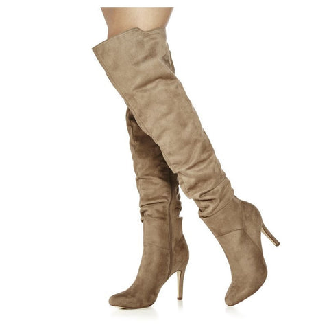 azmodo  Side Zipper Thigh High Boots