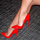 azmodo Sexy Red Pointed Toe Stiletto Heels