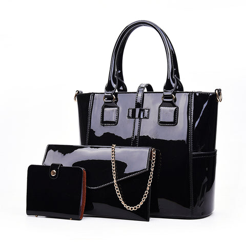 a3a41613ce New Fashion patent leather bag shinning light color design PU leather women  handbags famous trendy leather