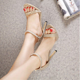 Sexy High Heel Dress hollowed-out  Sandals buckle Sandals