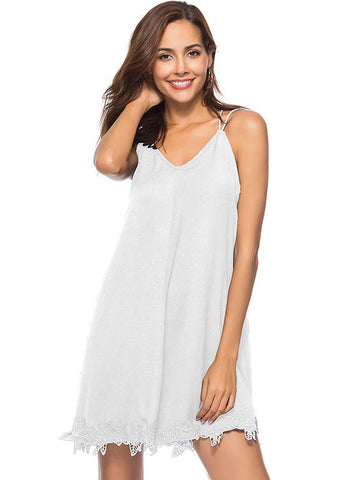 azmodo Plain Sleeveless Casual Women's Sexy Dress