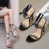 Summer Sexy Club Heels Sandals Women Classic Brand Designer Woman Peep Toe Stilettos High Heel Sandals Plus Shoes