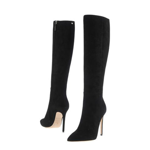 azmodo Stiletto Heel Side Zipper Knee High Boots
