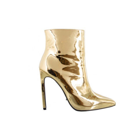 Sequined pointed boots women's spring and autumn models gold high-heeled single boots silver stiletto zipper Martin boots