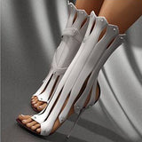Women Pumps Sexy High-Heeled Boots Stiletto Heel Dress Sandals