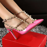Party Queen Rivets Stiletto Heels sandals 0132